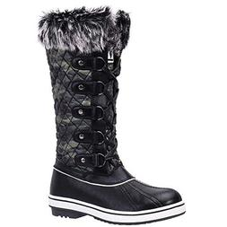 ALEADER Women's Lace Up Waterproof Winter Snow Boots Camo 7.