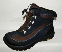 LANDS' END WOMENS SZ 8 M BLACK BROWN SUEDE HIKING ANKLE BOOT