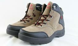 Men Lace Up Hiking Boots High Top Khaki Black Lightweight Wa