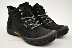 Men's Black Hiking Trail Casual Winter Work Boots Shoes Genu