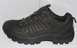 Men's  Black Leather Hiking Trail Sneaker Boots . Sizes