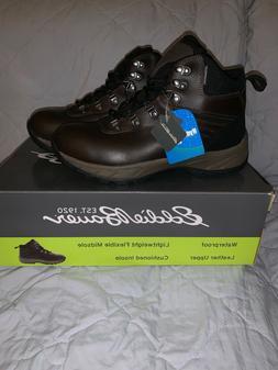 """EDDIE BAUER Men's Brown Leather """"Everett""""Waterproof Hiking"""