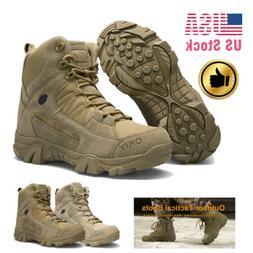 Men Outdoor Waterproof Hiking Boots Non-slip Combat Military