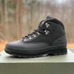 Timberland Men's Euro Hiker Black Leather Hiking Boots