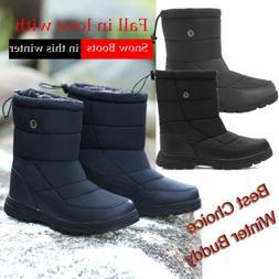 Men's High Top Snow Boots Fleece Lined Super Warm Outdoor Wa