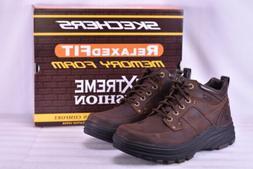 Men's Skechers Holdren-Lender Boots Dark Brown