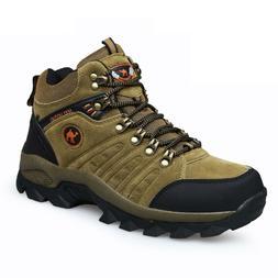 Men's lightweight leather waterproof mid cut top comfortable