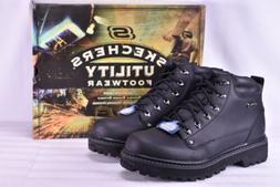 Men's Skechers Mariners-Pilot Utility Work Boots Black