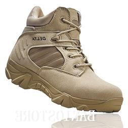 Men's Military Ankle Boot Tactical Leather Desert Combat Hik