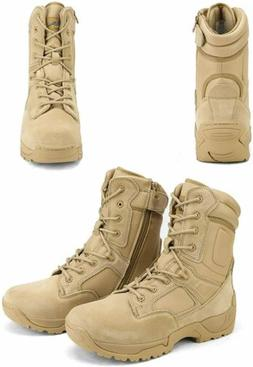Men's Military Tactical Work Boots Hiking Motorcycle Ankle-h