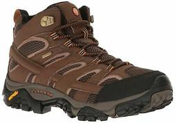 Merrell Men's Moab 2 Mid Gtx Hiking Boot Earth 11 M US New