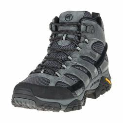 Merrell Men's Moab 2 Mid Waterproof Hiking Boot, Granite, Si