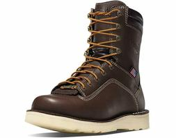Danner Men's Quarry USA 8 Inch Soft Toe Wedge Work Boot Brow