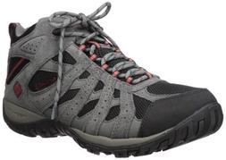 Columbia Men's Redmond Mid Waterproof Hiking Boot, Black, Gy