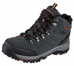 Skechers Men's Relaxed Fit Relment Pelmo Hiking Boot- GRAY