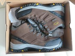 Skechers Men's Relaxed Fit Relment Pelmo Hiking Boot- KHAKI