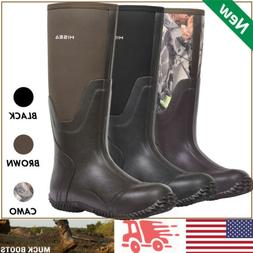 HISEA Men's Rubber Neoprene Boots Insulated Breathable Outdo