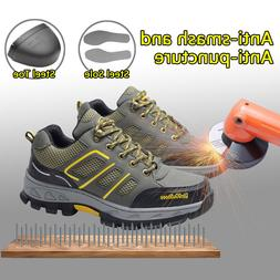 Men's Safety Shoes Steel Toe Sole Breathable Work Hiking Boo