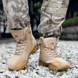 pretty nice 06626 94161 Men s Tactical Military Boots Outdoor Mid-Ankle Trekking Hik
