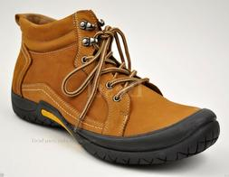 Men's Tan Genuine Leather Hiking Trail Casual Winter Work Bo