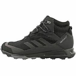 ADIDAS MEN'S TERREX TIVID MID CP HIKING BOOTS, BLACK/GREY US