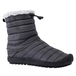 ALEADER Men's Waterproof Ankle Snow Boots Winter House Slipp