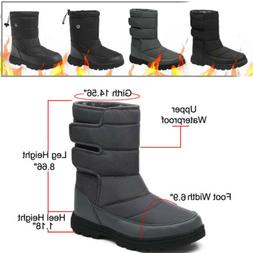 Men's Winter Snow Boots Warm Lined Hiking Mid-Top Waterproof