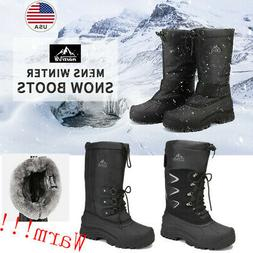 NORTIV 8 Men's Winter Snow Boots Waterproof Warm Thermolite