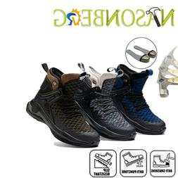 Men's Winter Steel Toe Safety Shoes Work Boots Casual Hiking