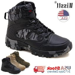 Men's Work Boots Military Tactical Army Combat Patrol Outdoo
