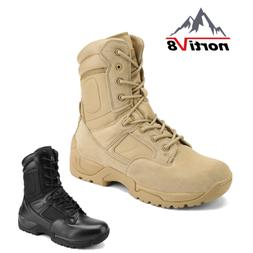 men s zip tactical work boots waterproof