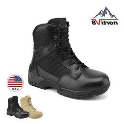 NORTIV 8 Men's Military Tactical Work Boots Side Zip Ankle C