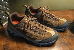MERRELL Mens 9.5 Hiking Boots Dark Earth Espresso Shoes Comf