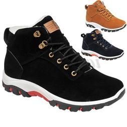 Mens Boots Warm Fashion Sneakers Winter Outdoor Hiking Shoes