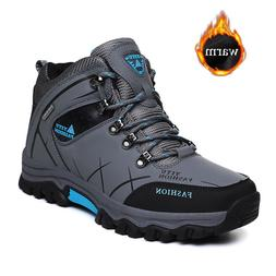TULUO Mens Hiking Shoes Winter Outdoor Warm Velvet Ankle <fo