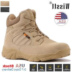 Mens Military Tactical Ankle Winter Snow boots High Top Comb
