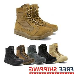 mens military tactical combat army boots lightweight