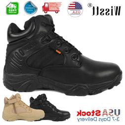 Mens Military Tactical Survival Ankle Boots Desert Combat Ar