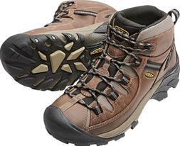 KEEN Mens Targhee II Mid WP Hiking Boots Shitake/Brindle-100