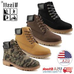 Mens Waterproof Leather Work Boots Outdoor Casual Hiking Sho