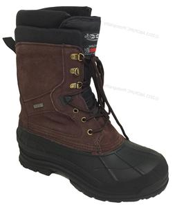 "Mens Winter Boots 10"" Leather Thermolite Waterproof Hiking S"
