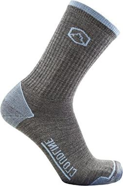 CloudLine Merino Wool Hiking & Athletic Crew Socks - Ultra L