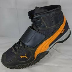Puma Meru Black Orange High Hi-Top Shoes Boots Hiking Golf M