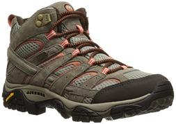 Merrell Women's Moab 2 Mid Waterproof Hiking Boot, Bungee Co