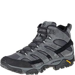 Merrell Men's Moab 2 Mid Waterproof Hiking Boot, Granite, 8