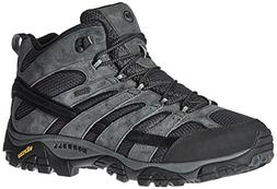 Merrell Men's Moab 2 Mid Waterproof Hiking Boot, Granite, 9.
