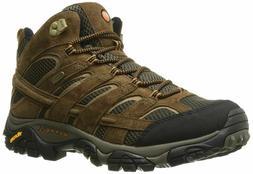 Merrell Men's Moab 2 Mid Waterproof Hiking Boot, Earth, 11 M