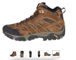 Merrell Moab 2 MID WP Waterproof Earth Hiking Boot Shoe Men'