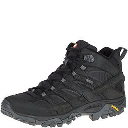 Merrell Men's Moab 2 Smooth MID Waterproof Hiking Boot Black