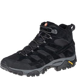 Merrell Men's Moab 2 Vent Mid Hiking Boot, Black Night, 8 2E